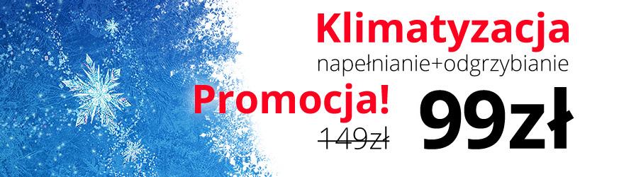 1|Promocja w Dakro! Nabijanie i odgrzybianie klimatyzacji tylko 99 zł! Lublin ul. Nałęczowska 73